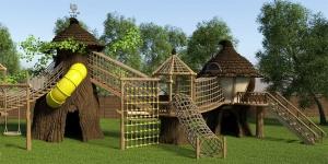 Дерев'яні дитячі майданчики